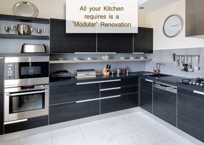 All your Kitchen requires is a 'Modular' Renovation